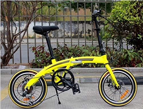 GuiSoHn Klappbares Mountainbike für Erwachsene, leicht, Unisex, Herren, Citybike, Aluminiumrahmen, Damenfahrrad mit verstellbarem Sitz Einheitsgröße GuiSoHn-5498446688