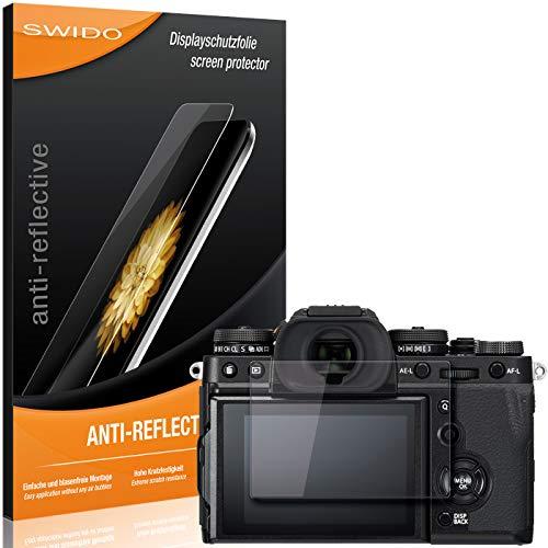 SWIDO Schutzfolie für Fujifilm X-T3 [2 Stück] Anti-Reflex MATT Entspiegelnd, Hoher Härtegrad, Schutz vor Kratzer/Folie, Displayschutz, Displayschutzfolie, Panzerglas-Folie