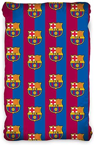 Hoeslaken FC Barcelona 90/100 cm x 190/200cm Bordeaux blauw 100% katoen Voetbal Fan Messi Primera Division Fan Stadion Camp Nou Hoeslakens Laken Hoeslaken geschikt voor beddengoed