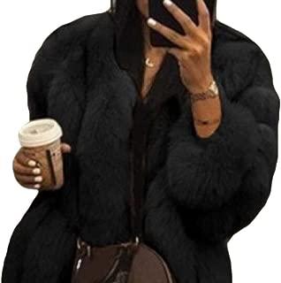 Women's Shaggy Long Faux Fur Coat Jacket Outwear Long Sleeve Fluffy Faux Fur Warm Coat