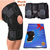 Knee Brace for Meniscus Tear - Breathable & Adjustable Open Patella Stabilizer Supports and Relieves...