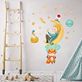 R00573 Pegatina Vinilo Pared Suave Efecto Tejido Decoración Niño Bebé Habitación Infantil Guardería Papel Pintado Autoadhesivo Principito