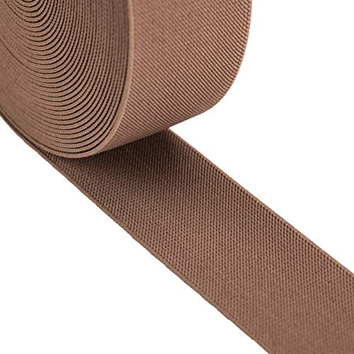 iCraft 2-Inch Wide by 2-Yard Colored Double-Side Twill Elastic Band-Khaki 12010