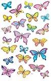 AVERY Zweckform Papier Sticker Schmetterlinge 69 Aufkleber (Dekosticker, Tiersticker, Aufkleber, selbstklebend, Mitgebsel, Partyspiele, Scrapbooking, Fotoalbum, Bullet Journal, Dekorieren) 4390
