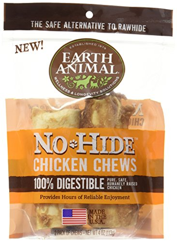 Earth Animal No-Hide Wholesome Chews - Small (Chicken, Small (2 per bag))