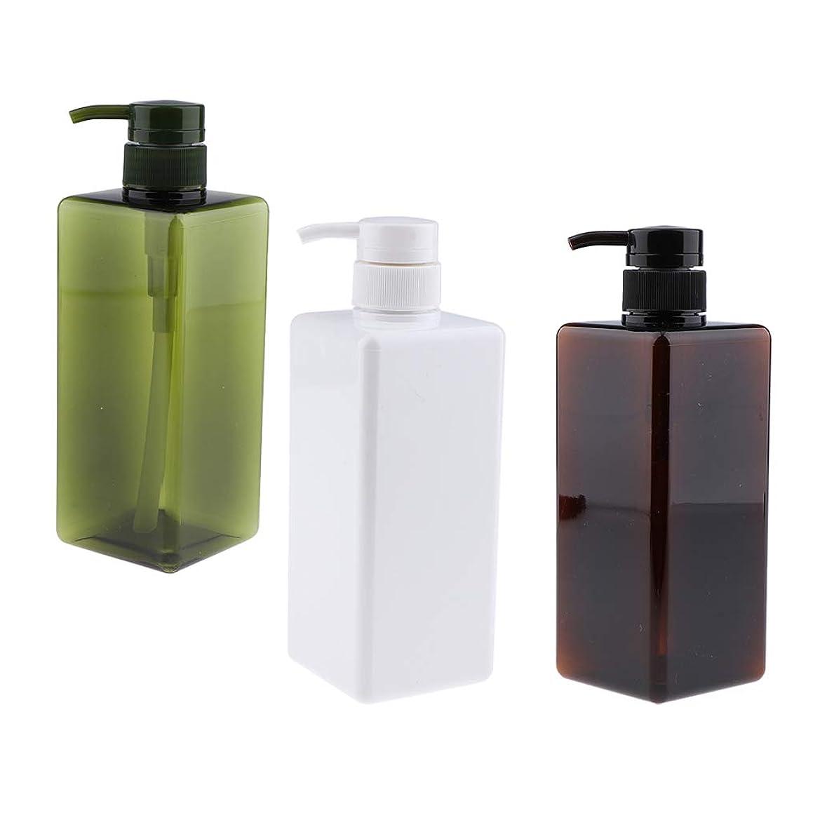 シャー予算精神医学CUTICATE プレスボトル ポンプボトル 詰替え 空のボト UV保護 紫外線防御 耐久性 650ML 3個セット