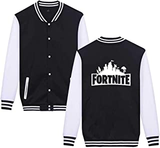 YzGoods Unisex Long Sleeve Fortnite Casual Jacket Baseball Button Hoodies Christmas Sweatshirt Coat for Boys Kids Teen Girls