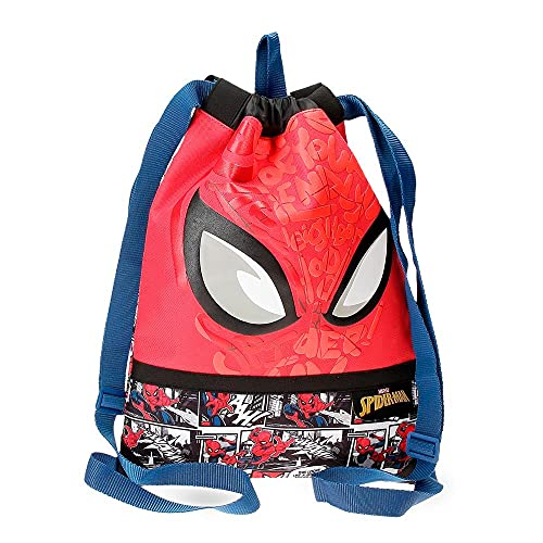 Marvel Spiderman Comic mochila Saco Rojo 30x40 cms Poliéster