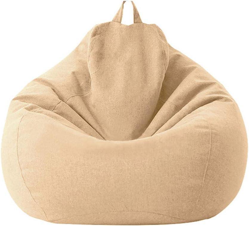ergonomisch ohne F/üllstoff Wohnzimmer 70,5 x 80,0 x 90,2 cm gro/ßer Sofabezug f/ür Zuhause Sitzsackbezug aus Baumwollleinen faule Liege feuchtigkeitsbest/ändig