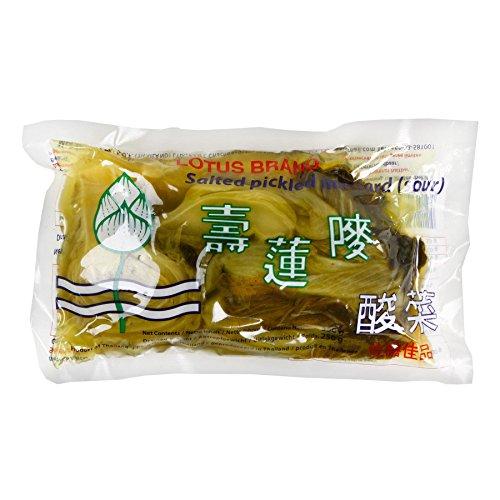 350g Eingelegter saurer Senfkohl Lotus gesalzener Senf Kohl sauer Senfgemüse