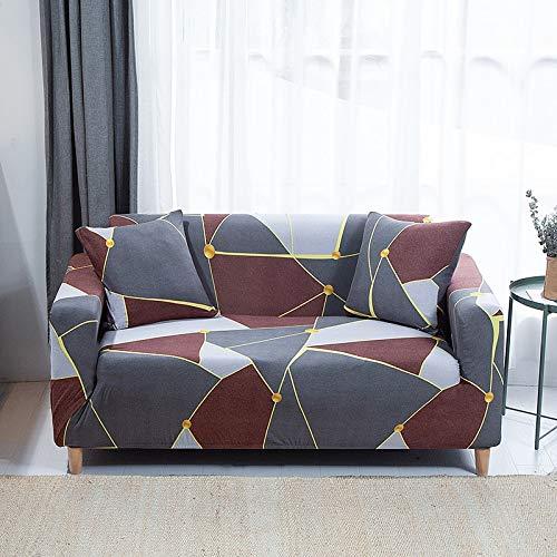 WXQY Funda de sofá de Spandex Bien Envuelta Funda de sofá Todo Incluido Funda de protección de Muebles Funda de sofá elástica Moderna A33 4 plazas