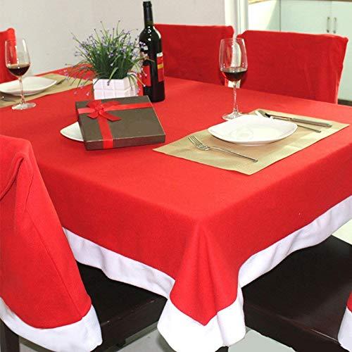 LUVODI Weihnachten Tischdecken Set Weihnachtstischläufer Abwaschbar Tischmatte Weihnachtsmütze Design Weihnachtsdeko Tischset