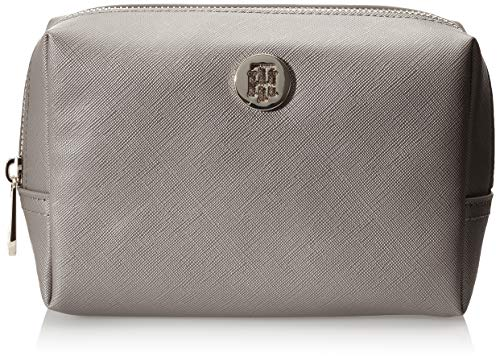 Tommy Hilfiger dames Honey 2 in 1 Washbag Metallic schoudertas, goud (zwart-zilver), 6,5 x 12 x 18 cm