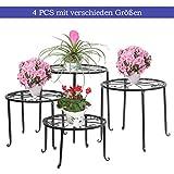 FullBerg Blumenständer Metall Schwarz Paletten Blumenregal Tisch Balkon Blumenbank Blumenleiter