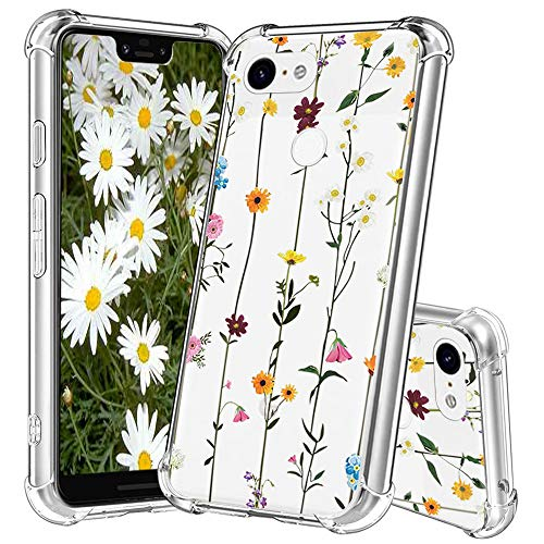YESPURE Google Pixel 3 XL Case,Small Daisy Design Printed Slim Crystal Clear TPU Air Cushion Anti-Shock Cover Protective Case for Google Pixel 3 XL - Small Daisy C Daisy