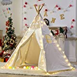 Dalos Dream 5 Poles Gaint Kids Teepee Tent -100% Natural Canvas Children Play