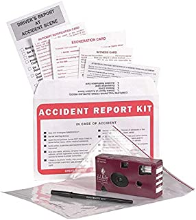 Vehicle Accident Kit in Poly Bag with 35mm Film Disposable Camera - J. J. Keller & Associates - Helps Drivers Collect, Organize & Report Vehicle Accident Information