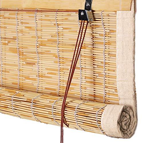 CHAXIA Rolgordijn Bamboo Shade Reed afgesneden tegen de zon ademende stofdichte pastorale stijl, 3 kleuren, multi-size, aanpasbare schaduw, schaduw