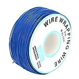 Ladieshow 300m/984ft Cables de Alambre en Espiral para Valla eléctrica para Mascotas Sistema de cercado de Alambre subterráneo para Perros(Azul)