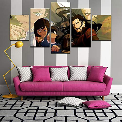 tong99 Moderne Kinderzimmer Wanddekoration Cartoon Poster Korra Leinwand Legende Malerei Malerei Kunstwerk Bilderrahmen