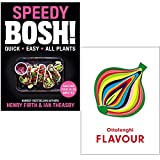 Speedy BOSH By Henry Firth & Ian Theasby & Ottolenghi FLAVOUR By Yotam Ottolenghi 2 Books Collection Set