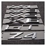 Stemmi e decorazioni per auto Chrome ABS Number Letters Word Car Tronco Badge Badge Emblem Lettera Decalcomania Autoadesivo Compatibile con BMW Serie 3 GT 5 Series GT x1 x3 x5 x6 Z4 Emblema della deca