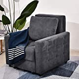 BINGTOO Sleeper Chair - Convertible Chair Sleeper Bed with Wheels and Storage...