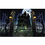 Diymood Painting Acrylic Paint by Number Kits for Students Beginner, DIY Halloween Moon Haunted House Oil Painting Drawing Wall Home Decor 16x20inch