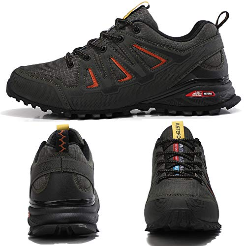 ASTERO Zapatillas de Deportes Hombre Running Zapatos para Correr Gimnasio Calzado Deportivos Ligero Sneakers Transpirables Casual Montaña Calzado Talla 41-46 (Verde, Numeric_43)