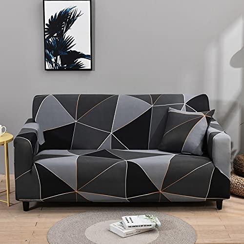 WXQY Fundas de Tela Escocesa elásticas elásticas Funda de sofá Antideslizante Funda de sofá para Mascotas Esquina en Forma de L Funda de sofá Antideslizante A16 2 plazas