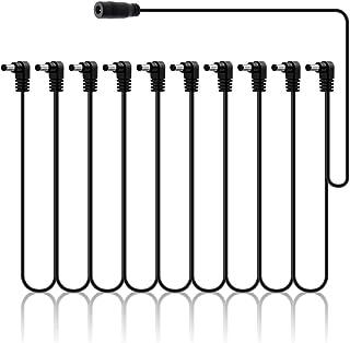 SONICAKE Accesorios para guitarra o bajo 9V DC 10-Way ángulo recto enchufe Daisy Chain Cable de alimentación
