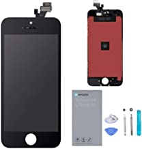 URSEND for iPhone 5 LCD Touch Screen Display Digitizer Screen Replacement Assembly with Repair Tool - Black