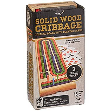 Solid Wood Folding Cribbage Set (Styles Will Vary)