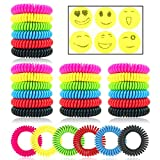 Mosquito Repellent Bracelets 30 Pack Natural Insect Repellent Wristband Waterproof Pest Control Band for Kids Adults Outdoor Camping Fishing Traveling
