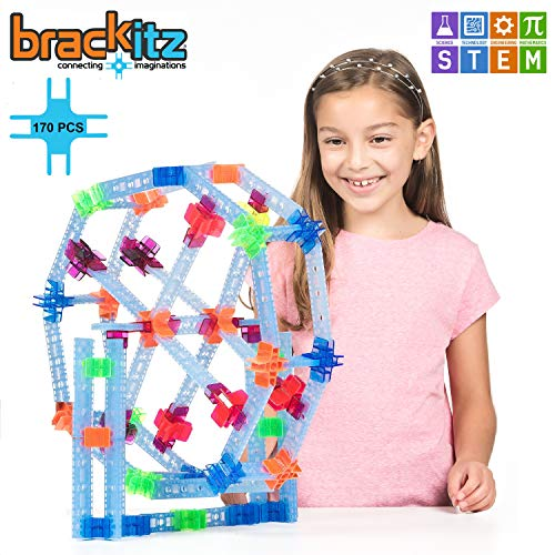 Brackitz Inventor STEM Discovery Building Toy for Kids Ages 3, 4, 5, 6+ Year Olds | Best Boys & Girls Educational Engineering Construction Kits | Creative Fun Learning Toys for Children | 170 Pc Set