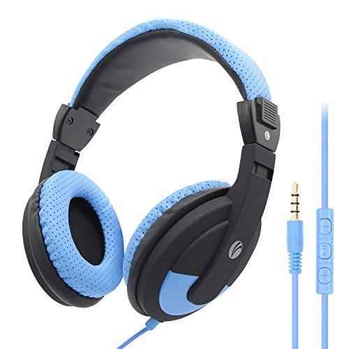 Vcom Casque Téléphone PC Filaire Casque Audio Filaire avec Microphone Réduction du Bruit, Casque Filaire Fiche 3,5 mm pour Smartphone, Skype, Bureau, Centre d'Appel, PC Gamer/PS3/PS4-Noir