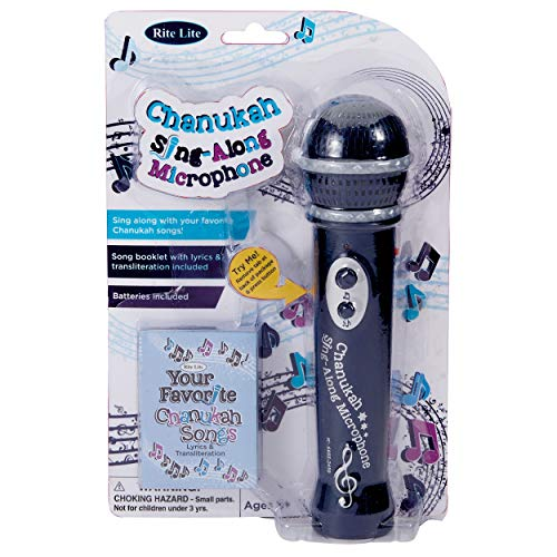 Rite Lite Chanukah Sing-Along Microphone Toys & Games, Blue