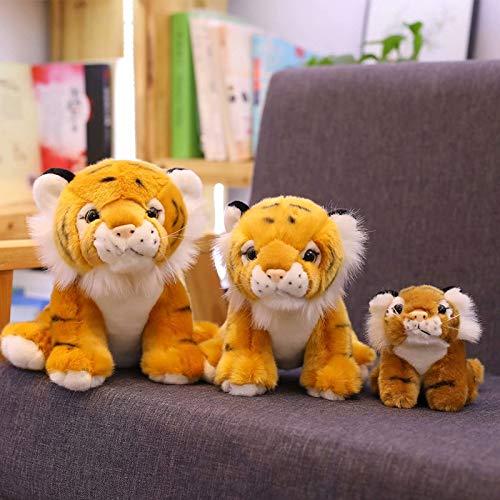 KXCAQ 12-22 cm Lindos Tigres Juguetes de Peluche simulación Tigres Blancos Amarillos muñecos de Peluche Suave Almohada de bebé Juguetes de Peluche para niños 18 cm Amarillo