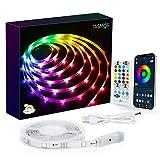 2M USB Retroilluminazione LED TV DreamColor, Tasmor Bluetooth Striscia LED RGBIC con App Controllato, Led Strisce Modalità Monitor 213 Modalità 16 Milioni Colori DIY per HDTV da 32-55 Pollici PC/TV