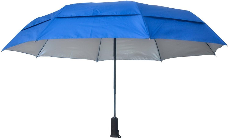 EStar Goods UV Coated Windproof Umbrella with Flashlight, blueee