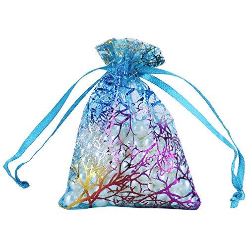 Ftvogue Organza Bolsas 50pieza multicolor transparente