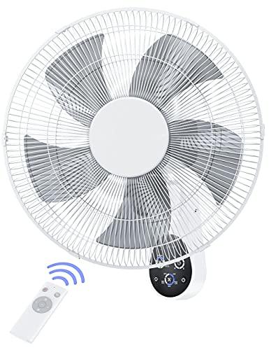 Wall Mount Fan, 16 Inch 5 Blades 5 Speeds Wall Fan...