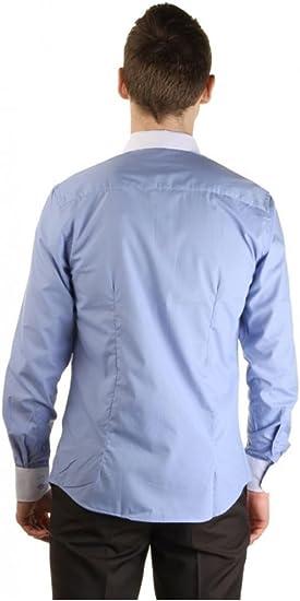 Dymastyle 2 Colores Azul Camisa Blanca Cuello y puños para ...