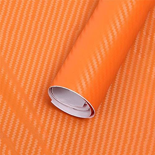 TRJGDCP Auto parts Car Sticker Door Protection Car Accessories Interior Carbon Fiber Body Bumper Auto Motorcycle Waterproof Ornaments Decoration (Color Name : Orange)