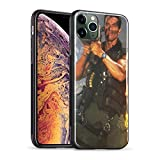 iPhone 11 Pro Case, 2019 Commando Arnold Schwarzenegger Soft Foil TPU Soft Silicone Smooth and Glossy Tempered Glass for iPhone 11 Pro Max A-iPhone 11