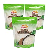 Shredded Coconut Flakes Organic Unsweetened 8 Ounce Bag (Pack of 3)...