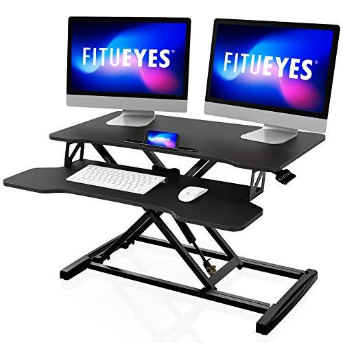 FITUEYES Standing Desk Converter 80cm Convertidor de Escritorio de Pie para Oficina y Casa con...