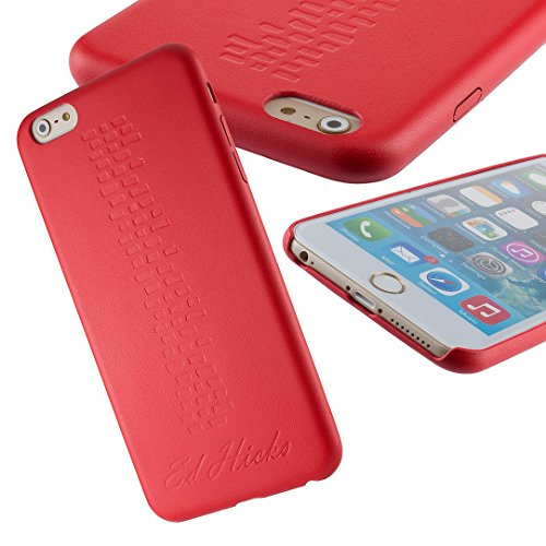 The Revel iPhone 6S Case- Ultra Thin Slim Fit, Premium PU Leather Back Cover Skin Bumper for iPhone 6S & iPhone 6. A Grippy and Protective Hard Shell in Durable & Stylish Sanguine Red