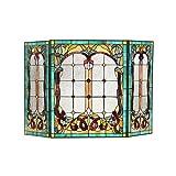 Chloe Victorian 3pcs 44x28 Lucian Tiffany-Style Folding Fireplace Screen