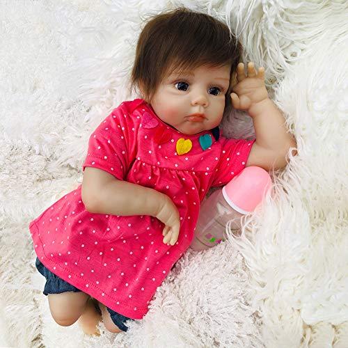 TOYSBBS Handmade Réaliste Reborn Baby Doll Fille en Sillicone Bébé Poupée Nouveau-née Réaliste 50 cm/20inch Meilleur Cadeau de Vacances (Certification EN71)